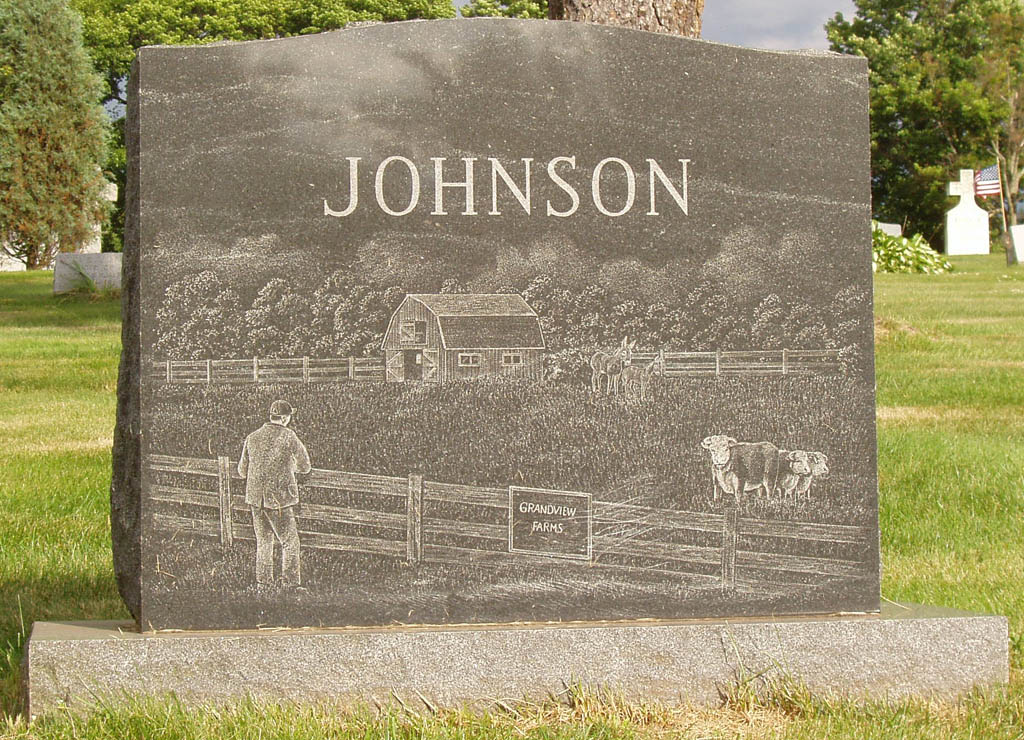 Cemetery Memorial & Family Gravestone Personalized Family Etched
